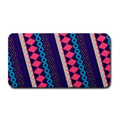 Purple And Pink Retro Geometric Pattern Medium Bar Mats