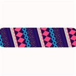 Purple And Pink Retro Geometric Pattern Large Bar Mats