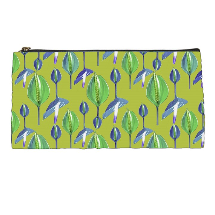 Tropical Floral Pattern Pencil Cases