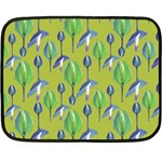 Tropical Floral Pattern Double Sided Fleece Blanket (Mini)