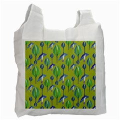Tropical Floral Pattern Recycle Bag (two Side)