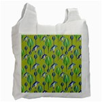 Tropical Floral Pattern Recycle Bag (Two Side)  Front
