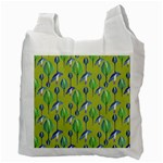 Tropical Floral Pattern Recycle Bag (Two Side)  Back
