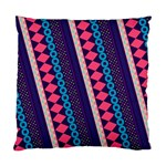 Purple And Pink Retro Geometric Pattern Standard Cushion Case (Two Sides) Front