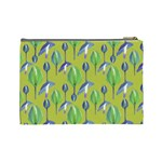Tropical Floral Pattern Cosmetic Bag (Large)  Back