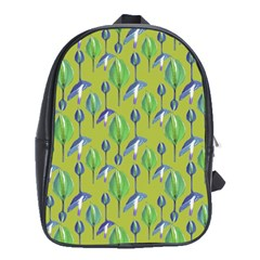 Tropical Floral Pattern School Bags(Large)