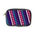 Purple And Pink Retro Geometric Pattern Coin Purse Front