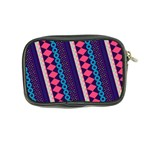 Purple And Pink Retro Geometric Pattern Coin Purse Back