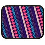 Purple And Pink Retro Geometric Pattern Netbook Case (XL)
