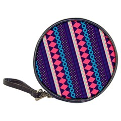 Purple And Pink Retro Geometric Pattern Classic 20 Cd Wallets