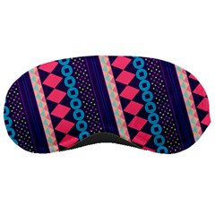 Purple And Pink Retro Geometric Pattern Sleeping Masks by DanaeStudio