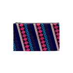 Purple And Pink Retro Geometric Pattern Cosmetic Bag (Small)  Front