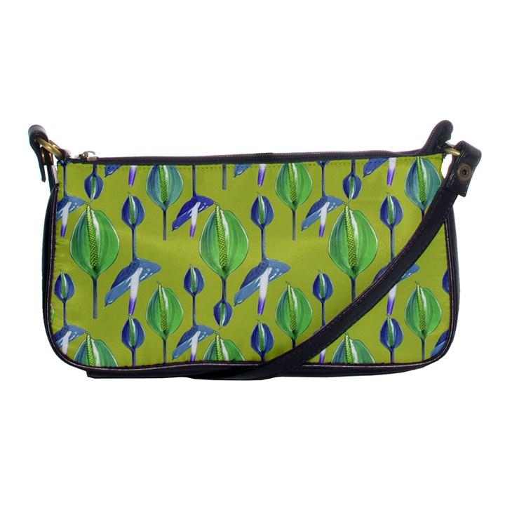 Tropical Floral Pattern Shoulder Clutch Bags