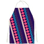 Purple And Pink Retro Geometric Pattern Full Print Aprons Front