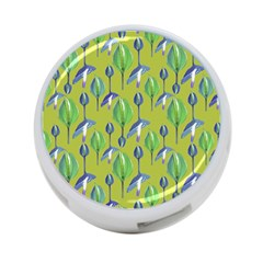 Tropical Floral Pattern 4-Port USB Hub (Two Sides)