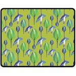 Tropical Floral Pattern Fleece Blanket (Medium)