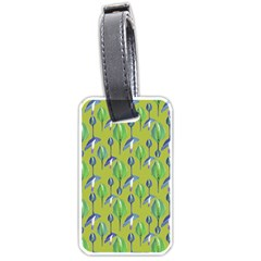 Tropical Floral Pattern Luggage Tags (One Side)