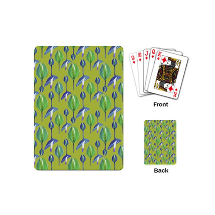 Tropical Floral Pattern Playing Cards (Mini)