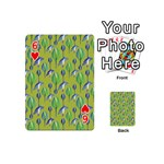 Tropical Floral Pattern Playing Cards 54 (Mini)  Front - Heart6