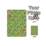 Tropical Floral Pattern Playing Cards 54 (Mini)  Front - Diamond3