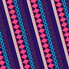 Purple And Pink Retro Geometric Pattern Magic Photo Cubes