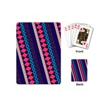Purple And Pink Retro Geometric Pattern Playing Cards (Mini)  Back