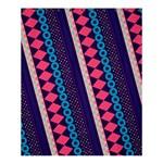 Purple And Pink Retro Geometric Pattern Shower Curtain 60  x 72  (Medium)