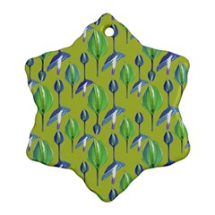 Tropical Floral Pattern Snowflake Ornament (2-Side)