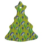 Tropical Floral Pattern Christmas Tree Ornament (2 Sides)