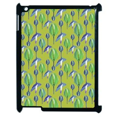 Tropical Floral Pattern Apple iPad 2 Case (Black)