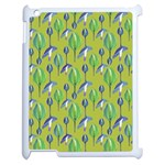 Tropical Floral Pattern Apple iPad 2 Case (White) Front