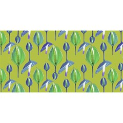 Tropical Floral Pattern YOU ARE INVITED 3D Greeting Card (8x4)