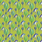 Tropical Floral Pattern Best Wish 3D Greeting Card (8x4) Inside