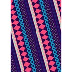 Purple And Pink Retro Geometric Pattern TAKE CARE 3D Greeting Card (7x5) Inside