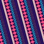Purple And Pink Retro Geometric Pattern Merry Xmas 3D Greeting Card (8x4) Inside