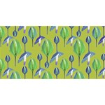Tropical Floral Pattern Merry Xmas 3D Greeting Card (8x4) Back