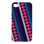 Purple And Pink Retro Geometric Pattern Apple iPhone 4/4S Hardshell Case