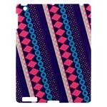 Purple And Pink Retro Geometric Pattern Apple iPad 3/4 Hardshell Case