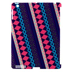 Purple And Pink Retro Geometric Pattern Apple Ipad 3/4 Hardshell Case (compatible With Smart Cover) by DanaeStudio