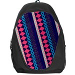 Purple And Pink Retro Geometric Pattern Backpack Bag Front