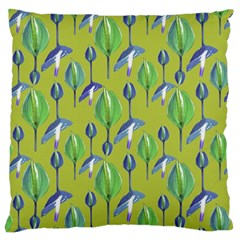 Tropical Floral Pattern Large Cushion Case (Two Sides)