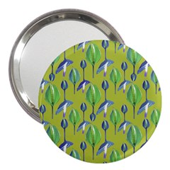 Tropical Floral Pattern 3  Handbag Mirrors