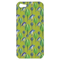 Tropical Floral Pattern Apple iPhone 5 Hardshell Case