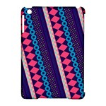 Purple And Pink Retro Geometric Pattern Apple iPad Mini Hardshell Case (Compatible with Smart Cover)