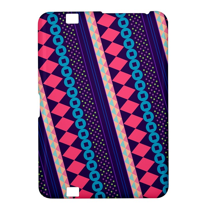 Purple And Pink Retro Geometric Pattern Kindle Fire HD 8.9