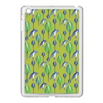 Tropical Floral Pattern Apple iPad Mini Case (White)