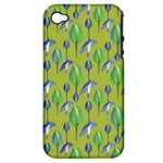 Tropical Floral Pattern Apple iPhone 4/4S Hardshell Case (PC+Silicone)