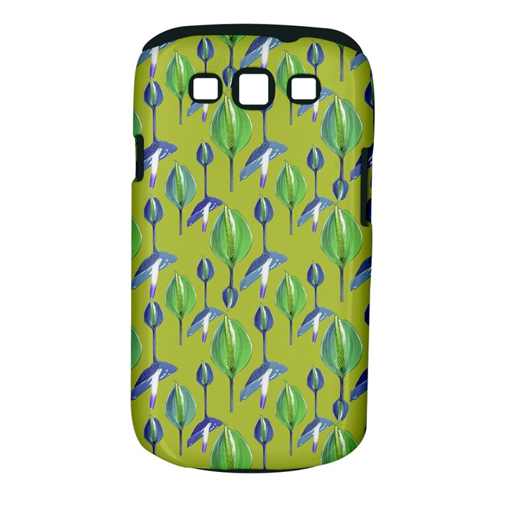 Tropical Floral Pattern Samsung Galaxy S III Classic Hardshell Case (PC+Silicone)