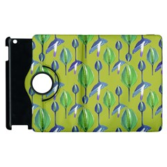 Tropical Floral Pattern Apple iPad 2 Flip 360 Case