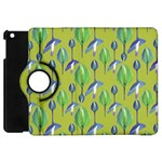 Tropical Floral Pattern Apple iPad Mini Flip 360 Case